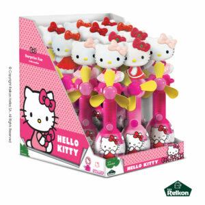 Hello Kitty ανεμηστήρες με φιγούρα, καραμελάκια σε σακουλάκι και δωράκι έκπληξη.