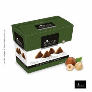Τρούφες κακάο με γεύση φoυντουκιού, σε κουτί