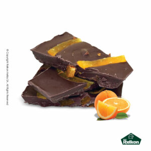 Παραδοσιακά μπλόκ σοκολάτας υγείας με καραμελομένη φλύδα πορτοκαλιού
