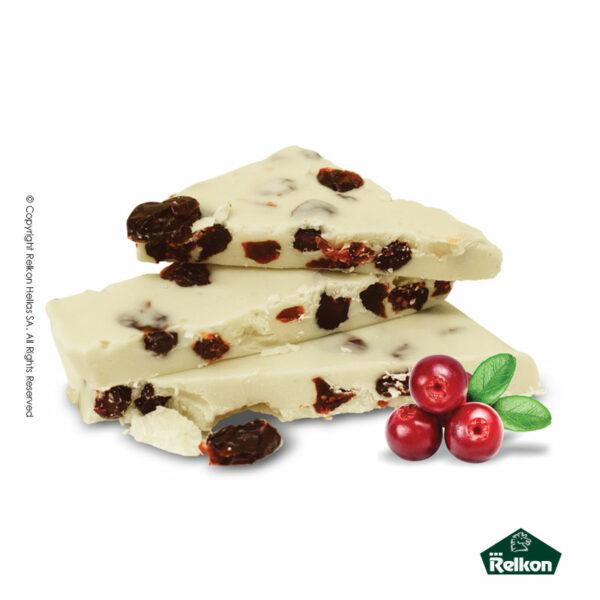 Παραδοσιακά μπλόκ λευκής σοκολάτας με cranberries
