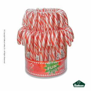 Γλειφιτζούρι με γεύση tutti frutti σχήματος μπαστούνι και χρώμα κόκκινο-λευκό ριγέ. Ιδανικό για παιδικά πάρτυ, βάπτιση, candy bar, events και για τα Χριστούγεννα.