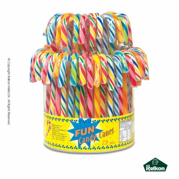 Γλειφιτζούρι με γεύση tutti frutti σχήματος μπαστούνι πολύχρωμο ριγέ. Ιδανικό για παιδικά πάρτυ, βάπτιση, candy bar, events.