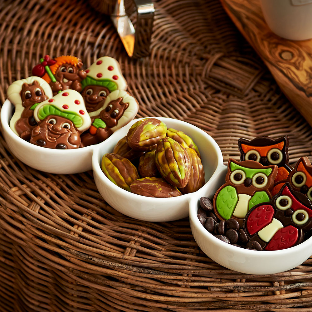 Σοκολατάκια σε διάφορα σχέδια.