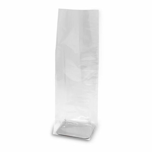 Σακουλάκι διάφανο με ασημένια βάση, κατάλληλο για συσκευασία τροφίμων. Ιδανικό για μεγάλες συσκευασίες δώρου.