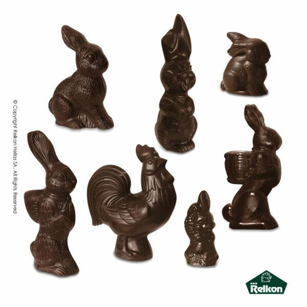 Πασχαλινές 3D φιγούρες με ζώα από σοκολάτα υγείας. Ιδανικό για Πάσχα.