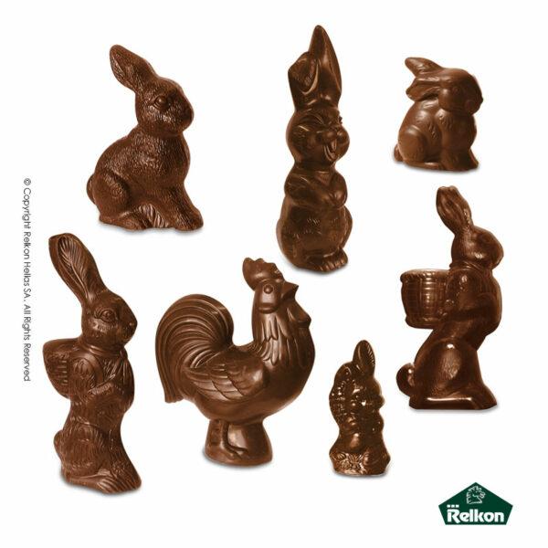Πασχαλινές 3D φιγούρες με ζώα από σοκολάτα γάλακτος. Ιδανικό για Πάσχα.
