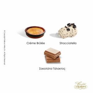 Safe pack Snob με ολόκληρο καβουρδισμένο αμύγδαλο, γέμιση λευκής σοκολάτας και λεπτή επίστρωση ζάχαρης και 3 ανάμικτες γεύσεις σε συσκευασία. Ιδανικά για γάμο, βάπτιση, candy bar και events. Γεύσεις: crème brûlée, stracciatella και σοκολάτα γάλακτος.