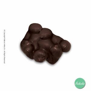 Βραχάκια με σοκολάτα υγείας και ολόκληρα φουντούκια.