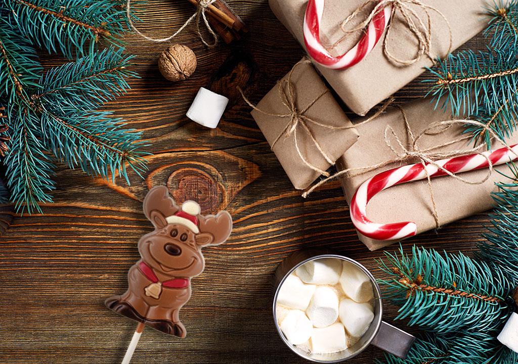 Χριστουγεννιάτικα σοκολατένια γλειφιτζούρια
