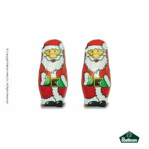 Χριστουγεννιάτικα σοκολατάκια από σοκολάτα γάλακτος σε σχέδιο Αγ. Βασίλη. Παράγονται από υψηλής ποιότητας σοκολάτα και είναι η τέλεια επιλογή για τα Χριστούγεννα.